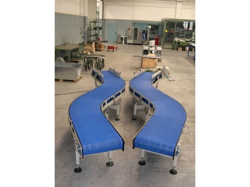 Trasportatore a tappeto modulare termoplastico mod tramo snb - Tappeto trasportatore ...